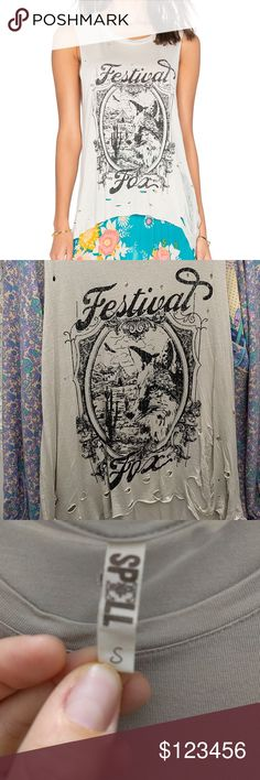 *Trade only** Rare Spell Festival Fox Tank - Small I'm not sure I want to let this go! Will only trade for something equally as rare. My wish list: * Large Dreamweaver Bag * Folktown? Tee Small * Revolver Kimono Spell & The Gypsy Collective Tops Tank Tops