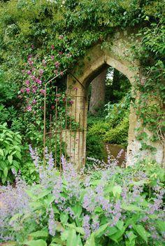 gothic garden entry - reminds of The Secret Garden. Magic Garden, Dream Garden, The Secret Garden, Secret Gardens, Hidden Garden, Garden Doors, Garden Gate, Garden Entrance, Garden Archway