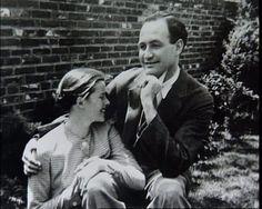 Katharine Hepburn con su primer y único marido Ludlow Ogden Smith
