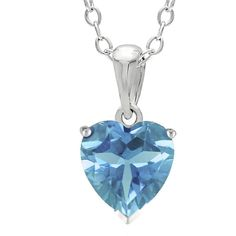 Heart-Shaped Genuine Blue Topaz Sterling Silver Pendant Necklace ($50) ❤ liked on Polyvore featuring jewelry, necklaces, sterling silver pendant necklace, heart necklace, sterling silver necklace, sterling silver necklace pendant and heart shaped pendant necklace