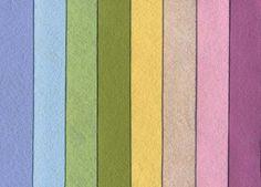 National NonWovens Mini Wool Felt Sampler - Pretty Pastels