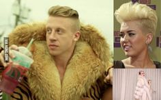 Someone should tell Miley Cyrus she looks like Macklemore.