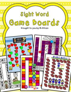 Sight Word Board Games (SET 2) Learn sight words fast and have fun too with these Sight Word Board Games. This set includes 5 Game Boards (Off to School, Monster Mash, The Creepy Crawl, Helmet Hustle and Detective Dash), and 329 Sight Word Cards (including days of the week, months of the year, and number words 1-15).