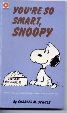 You`re So Smart, Snoopy (Coronet Books 1978) By Charles M. Schulz