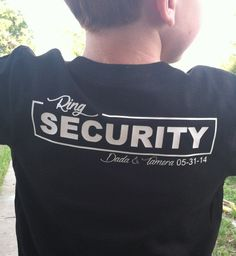 Ring Security Personalized Wedding Tee