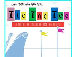 PRINTABLE Tic Tac Toe Game-Great Fish Extender Gift