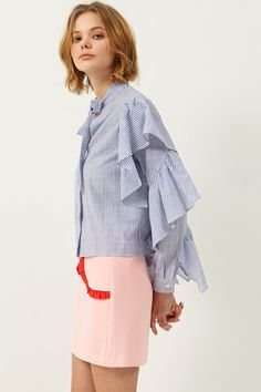Lucy Stripe Blouse Discover the latest fashion trends online at storets.com