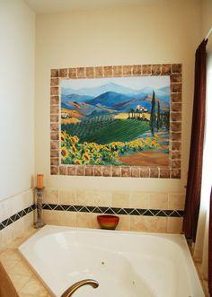 Walls Mural Bathroom Decorating Ideas For Walls U2013 Home Improvement | All  Things Crafty | Pinterest | Wall Murals, Bathroom Mural And Walu2026