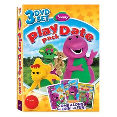 barney play date pack dvd tys toy box play movies toys fun - Barney Christmas Movie
