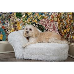 @Overstock - Pamper your little pup with this fur-embellished chaise lounge from Enchanted Home. With a classic design, this chaise accommodates pets up to 15 pounds.http://www.overstock.com/Pet-Supplies/Enchanted-Home-Pet-Furry-Chaise-Lounge/7535906/product.html?CID=214117 $79.99