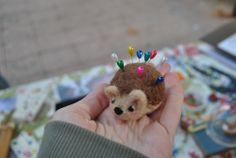 Needle felted hedgehog, cute