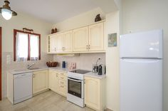 Villa of Roses and its fully equipped kitchen ! Shower Cabin, Living Room With Fireplace, Double Bedroom, Sitting Area, Beautiful Islands, Ground Floor, Beautiful Gardens, Villa, Kitchen Cabinets