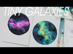[TINY NEBULA] Watercolor Painting - YouTube/Fascinating video! I love this technique!