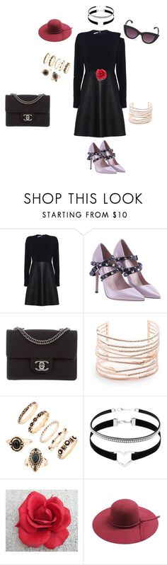 Night on the Town by michellebuonocore on Polyvore featuring STELLA McCARTNEY, Valentino, Chanel, Alexis Bittar and Quay