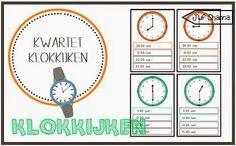 Juf Shanna: Kwartet klokkijkenl: hele- en halve uren