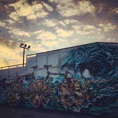 Coucher de soleil. #bordeaux #bordeauxmaville #skatepark #streetart by baptiste_bouyrat