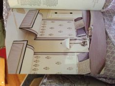 Idea for layering the quadrille fabric in the roman shade