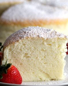 Fluffy jiggly Japanese cheesecake