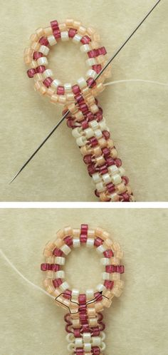 Tubular Peyote Stitch Patterns | Tubular Peyote Stitch Bracelet Pattern - Summer Loganberry