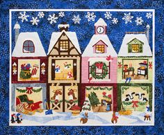 The Holiday Ladies quilt patterns | Sweet Season Quilts