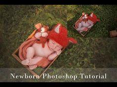 Editing Newborns Outdoors | A Photoshop Tutorial - YouTube