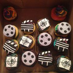 Ella's bday cupcakes! Movie night fondant!