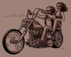 vintage motorcycle tattoos women | ... Tattoos: Biker tattoo designs, Harley davidson tattoos, Skull tattoos