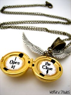 Golden Snitch Locket - I Open at the Close. $23.99