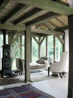 Countryside retreat cabin in France/color of wood - GORGEOUS!!