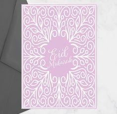 Pink Eid Card Beautiful Eid Card Eid Mubarak Card Eid Note