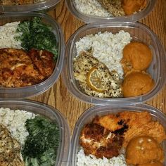 Meal Prep Brown Rice  Steamed Broccoli  Whipped Sweet Potatoes  Lemon Pepper Chicken Spicy Sirarcha Chicken #EdibleIndulgence #Edible #SelfTaught #Foodporn #Food #Filling #Healthy #TeamHealthy #Fit #FitLife #MealPrepSunday #MealPrep by mzdimples73
