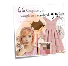 """""""Pink Lady"""" by jocrow on Polyvore featuring Post-It, Chi Chi, Bulgari, Too Faced Cosmetics, Ted Baker, Stila, Giuseppe Zanotti, hairtrend and outfit"""