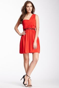 Jessica Simpson Pleated One Shoulder Dress by Non Specific on @HauteLook