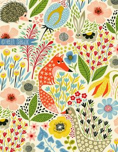 """hedgehogs & foxes vs geese & rabbits . . . by helen dardik of """"orange you lucky!"""""""