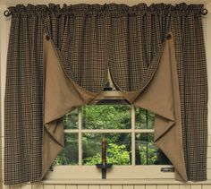 121 Best PRIMITIVE CURTAINS images | Primitive curtains ...