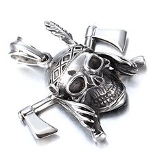 Punk Men Stainless Steel Double AX Skull Pendant Necklace... http://www.amazon.com/dp/B01GAWWGDU/ref=cm_sw_r_pi_dp_Ym-sxb1S6S64E