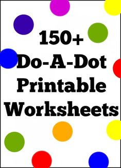 150+ Do-A-Dot Printable Worksheet Coloring Pages For Preschool - TheSuburbanMom Preschool Curriculum, Preschool Printables, Preschool Learning, Printable Worksheets, Preschool Activities, Homeschooling, Preschool Calendar, Preschool Projects, School Worksheets