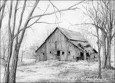 BARNS - Graphite Pencil Drawings by Diane Wright                                                                                                                                                                                 More