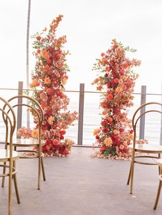 Fall Wedding, Our Wedding, Wedding Ideas, Flower Decorations, Wedding Decorations, Table Decorations, Seaside Cafe, Large Floral Arrangements, California Sunset
