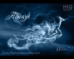 Doe, Patronus of Lily Potter (Evans) and Severus Snape by DigitDreams on Etsy… Lily Potter, Theme Harry Potter, Harry Potter World, Hogwarts, Harry Potter Tattoos, Severus Snape, Boku No Hero Academy, Dark Backgrounds, Witches