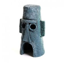 Every aquarium needs a slice of Bikini Bottom and what better way to add it than having Squidward's monolithic house in your home aquarium or fish bowl. This licensed Nickelodeon SpongeBob ornament makes an exciting ornament in any aquarium. Nickelodeon Spongebob, Home Aquarium, Aquarium Decorations, Easter Island, Pottery Making, How To Make Ornaments, Design Inspiration, Fish, Unique