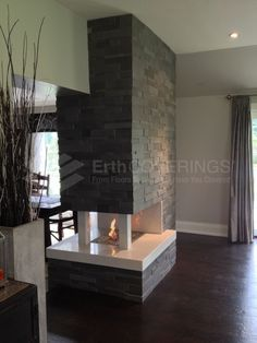 3 sided fireplace design pictures remodel decor and for Three way fireplace