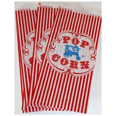 50 Retro Wagon Popcorn Bags circus carnival by PartyDelights, $7.00