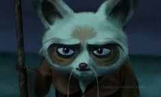 Kung Fu Panda, Master Shifu, Animation Reference, Disney And Dreamworks, Pixar, Cartoons, Fanart, Bird, Cute