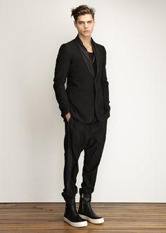 Rick Owens Tux Collar Blazer in Black