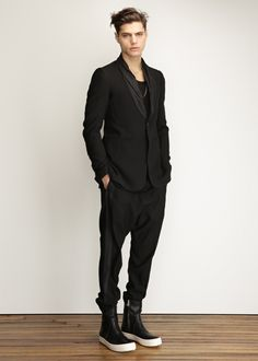 Visions of the Future: Rick Owens Tux Collar Blazer in Black