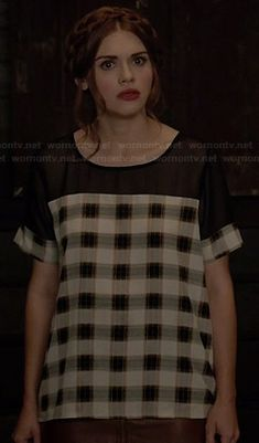 8ef0092eaf Lydia s checked top with black mesh on Teen Wolf