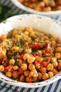 This easy-to-make chickpea and quinoa bowl is made up of delicious spices and healthy ingredients for a well-balanced meal your family will love