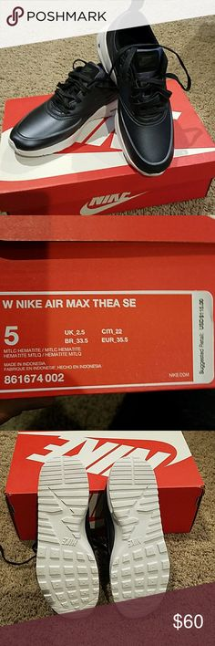 e7a33f553cafc7 Nike Air Max Thea SE BNIB Never worn! Sleek gunmetal color has a matte  sheen that makes for a casual yet fab look. Nike calls the color Metallic  Hematite.