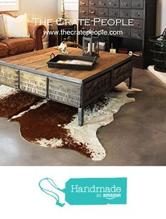 The 48 ZORIA Farms Coffee Table - Reclaimed Furniture using Vintage Wood Crates & Barn Wood from The Crate People…